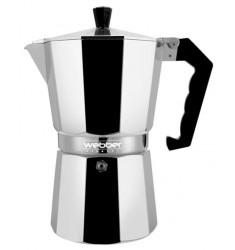 Гейзер Кофеварка Webber BE-0120 на 2 чашки (100 мл) серебристый/черный