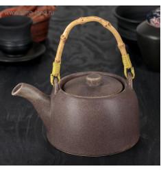 """Чайник заварочный 500 мл """"Шифу"""", с металлическим ситом, цвет коричневый"""