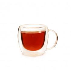 """Чашка из стекла """"Толстячок"""" с ручкой 270 мл (арт. 05155)"""