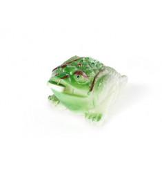 """Чайная фигурка, меняющая цвет """"Зелёная жаба с монеткой"""""""