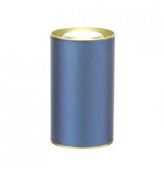 Банка картонная (Тубус) для чая 73*125 (темно-синий)