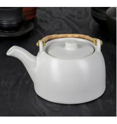 """Чайник заварочный 500 мл """"Шифу"""", с металлическим ситом, цвет белый"""